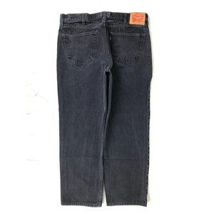 Levi's 38 x 30 550 Relaxed Fit Black Wash 100%